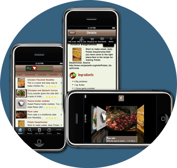 MyCookBook app screenshots