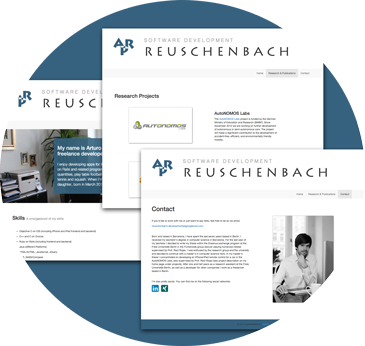 Own web application reuschenbach.eu
